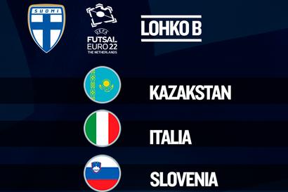 Futsalmiehet saivat seuralaiset EM-alkulohkoon: Italia, Kazakstan ja Slovenia