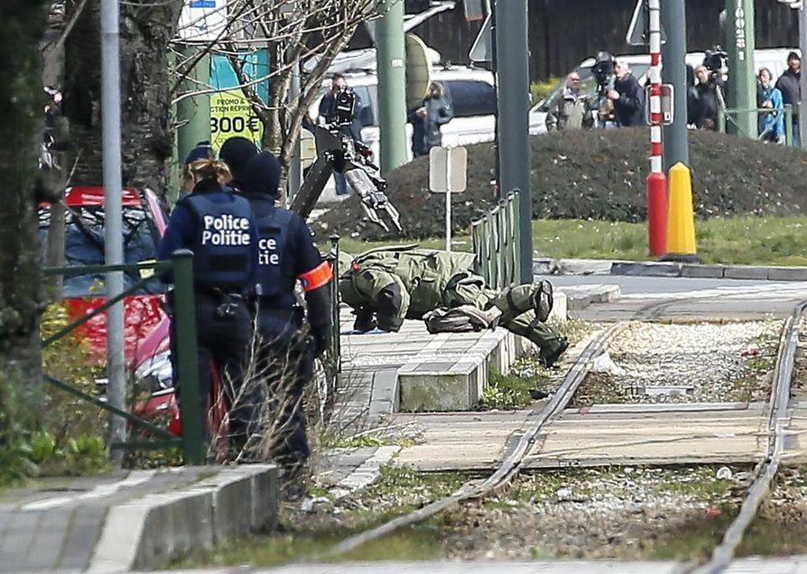 Schaerbeekin kaupunginosassa oli perjantaina mittava poliisioperaatio.