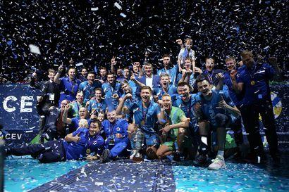 Lauri Kerminen juhli neljäntenä suomalaisena lentopallon Eurocupin mestaruutta