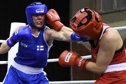 Mira Potkonen nyrkkeili Tokiossa olympiapuolivälieriin – mitali häämöttää enää yhden voiton päässä