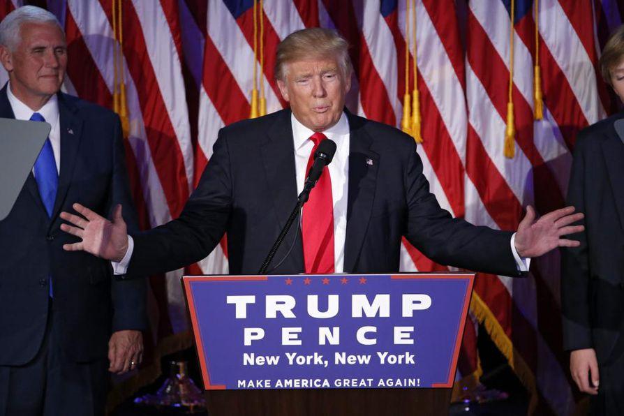 Donald Trump valittiin Yhdysvaltain presidentiksi tiistaina käydyssä presidentinvaalissa.