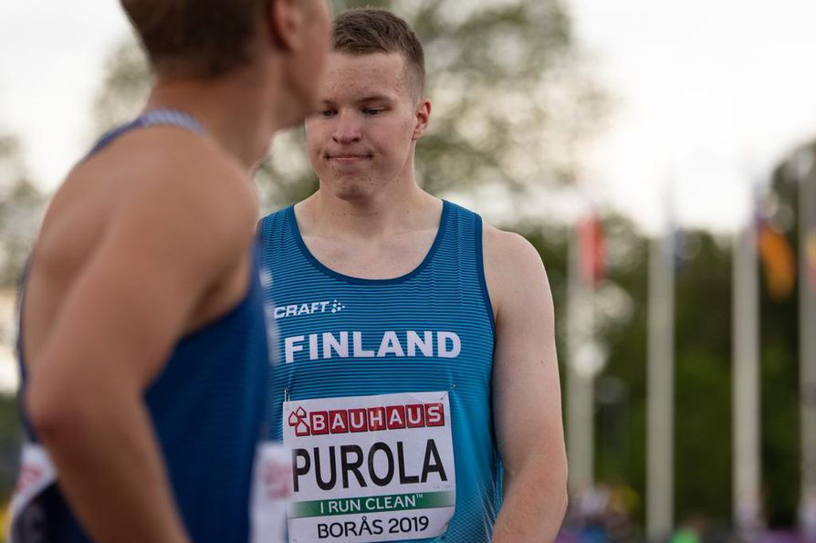 Oulun Pyrinnön Samuel Purola jäi täpärästi ulos loppukilpailusta nuorten EM-kisoissa.